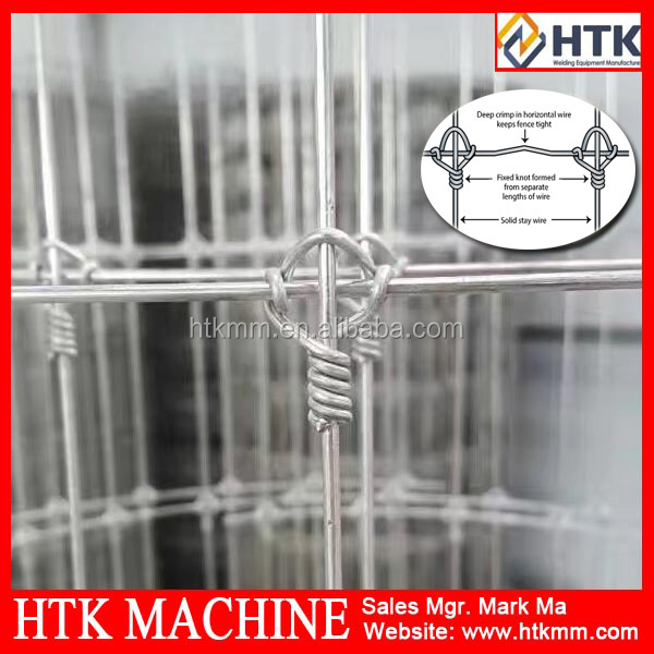 Fixed knot fence hot dipped galvanized horse and deer wire mesh fence