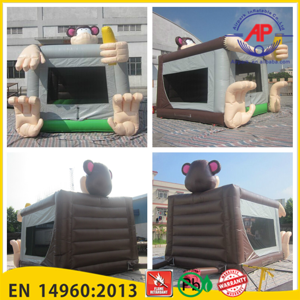 2016 new design amusement park in door inflatable monkey bounce house for sale craigslist