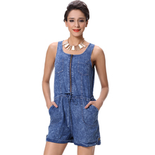2018 New Fashion Denim Sexy Casual Shorts Jumpsuit Women