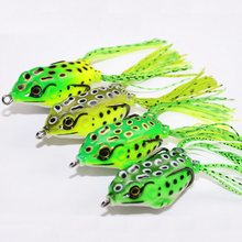 3D Eyes Artificia OEM ColorfulJigging Vibe Trolling Soft Plastic Frog Fishing Lure