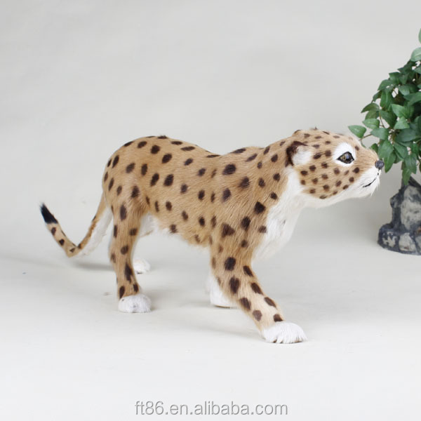 2015 animated stuffed lifelike plush leopard puppet