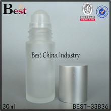 30ml roll bottle deodorant glass roll on bottle