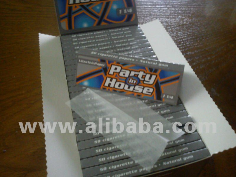 Cigarette rolling paper Party in House 1 1/4 World ultra thin 12 g/m2