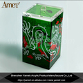OEM printing logo clear tabletop perspex tea display box