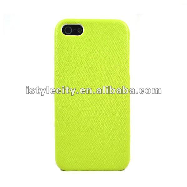 Fresh Green Leather Protective Skin Cover Case for iphone 5
