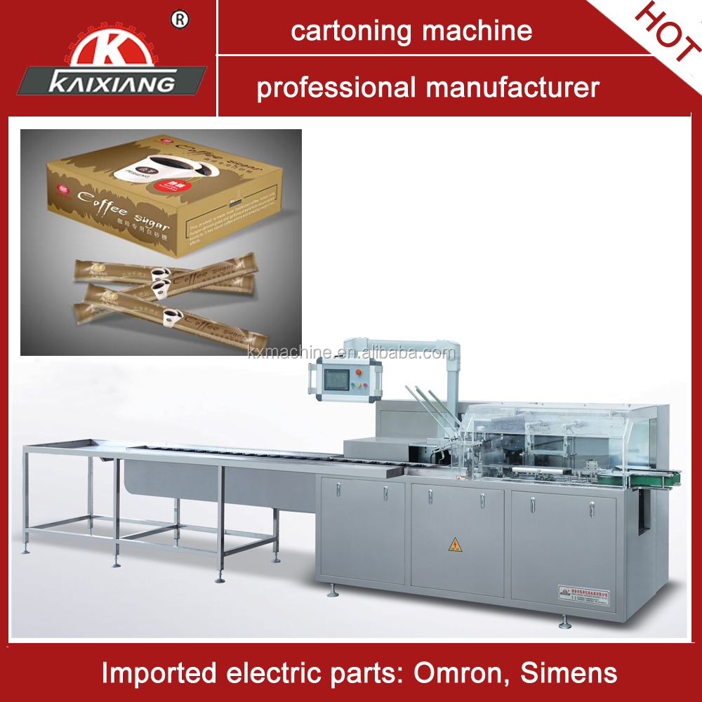 automatic box packaging machine for tea bag coffee bag