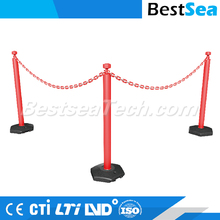 Chain stanchion 1.1m length, traffic safety driveway chain barrier