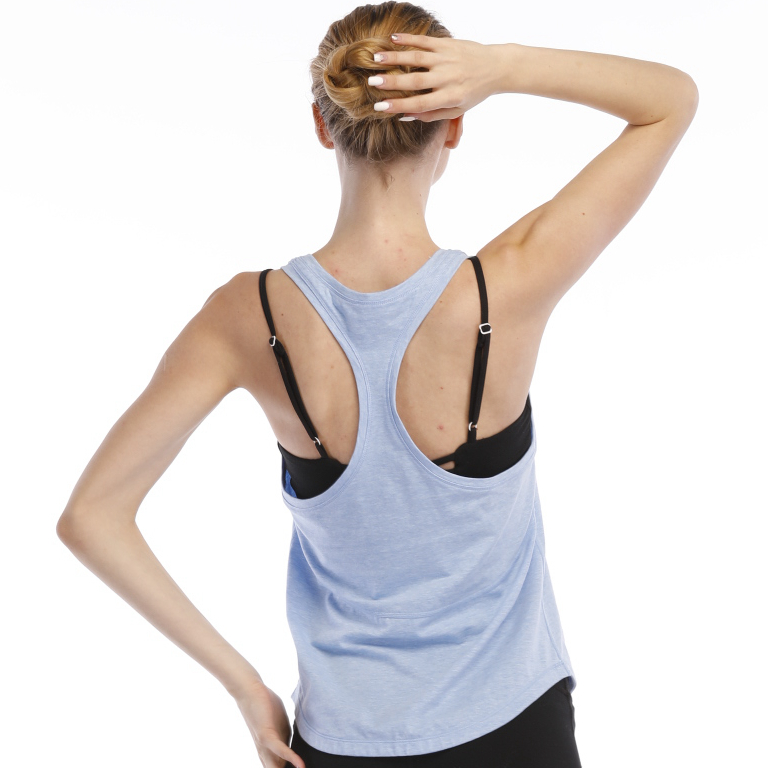 Manufacturer factory grey dry fit gym/sport top women yoga gym tank top