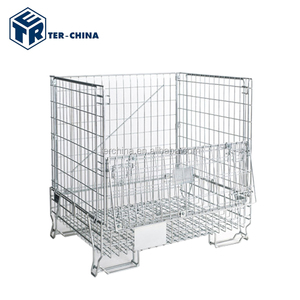 Heavy Duty Scale security galvanize Wire Mesh Pallet Cage