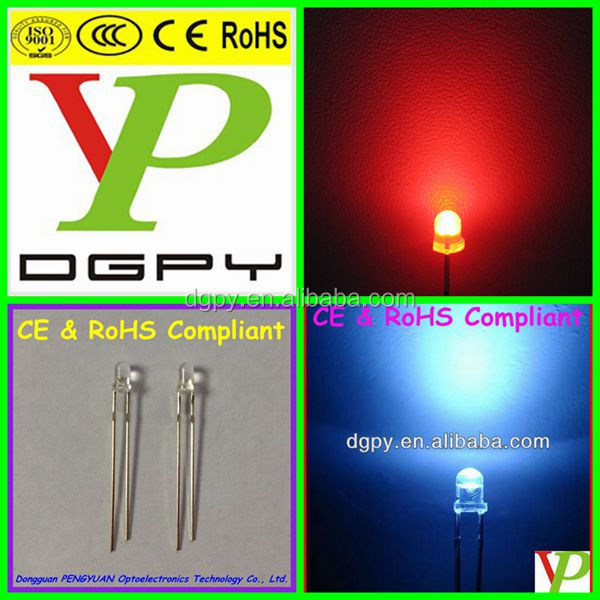 2-Pin Slow flashing leds 3mm 4.8mm 5mm 8mm 10mm Light Emitting Diodes ( CE & RoHS Compliant )
