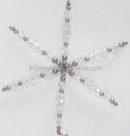 clear crystal beads craft,handicrafts made of abaca,decoration accessory.