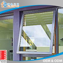 good quality single glazed aluminium top hung window with factory price