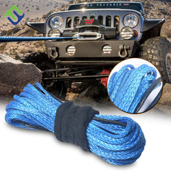 Car Offroad Synthetic Winch Rope UHMWPE Car Tow Used For Vehicles