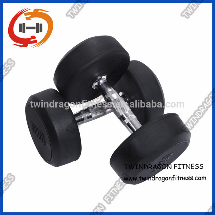 Economic and Reliable rubber dumbbell sets