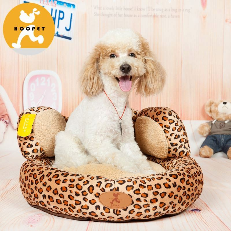 Leopard paw print design dog igloo beds supplies
