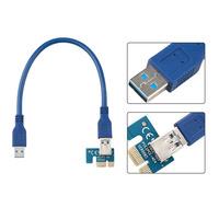 60cm Super stable PCI-E PCI E Express 1x to 16x graphics Card Riser Extender Adapter VER006 For Bitcoin BTC Miner Machine