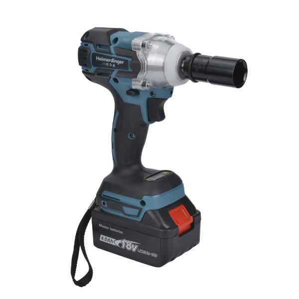 Brushless Cordless Impact Wrench Set with 2pcs 18V Battery