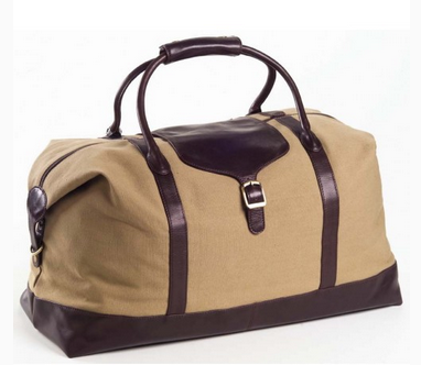 CLAVA CANVAS OVERNIGHTER W/ LEATHER TRIM, DUFFEL BAG