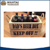 High quality hot selling small wooden beer crates/wine carrier wholesale