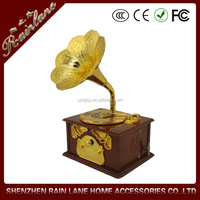 Decorative Gramophone Auto-return Function Metal Craft Gramophone