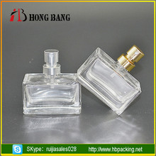 Best sales clear empty 50ml 20ml 15ml 30ml glass perfume spray bottles with gold cap