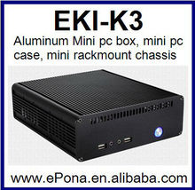 Aluminum Mini pc box, mini pc case, mini rackmount chassis EKI-K3