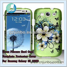 Green Flowers Hard Case Faceplate Protector Cover For Samsung Galaxy S3 i9300