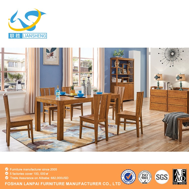 2017 new dining room design ash solid wood square fashion dining table set home furniture