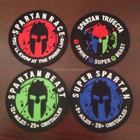spartan race/beast/trifecta/super spartan debossed rubber PVC patches for pants/shoes/bags/backpacks