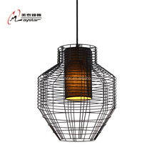 Big Metal Cage Pendant Lamp Industrail Cage Hanging Light