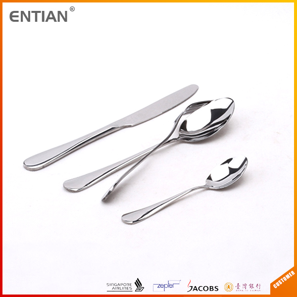 Cheap dinnerware thailand stainless steel flatware types of hotel cutlery