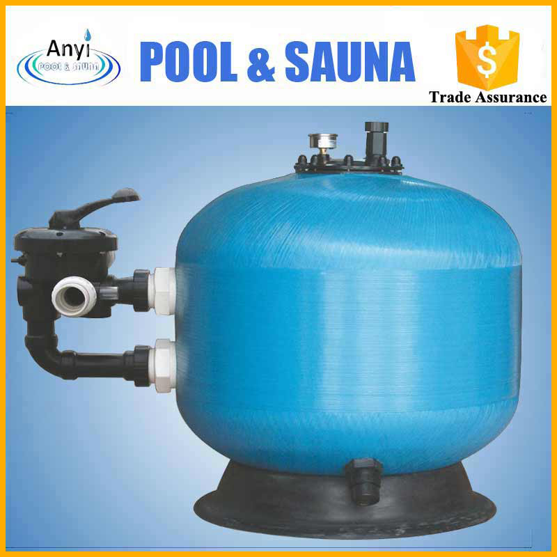 multiport valve swimming pool silica sand filter top mounted