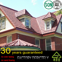 factory wholesale cheap price Kerala stone coated metal roof tile for house roof with South Korea Standard