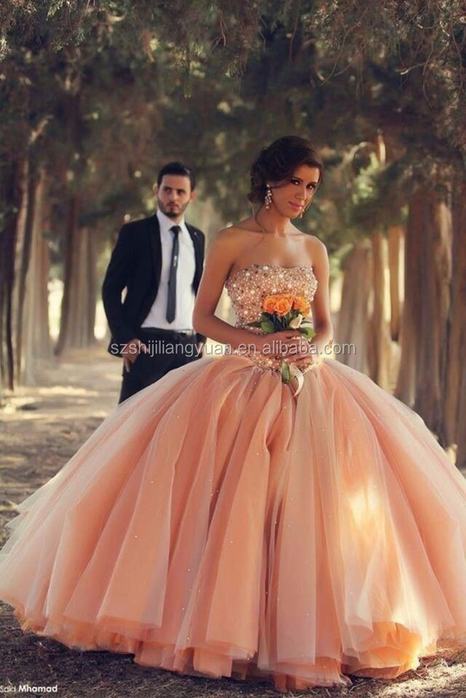 SJ2607 pink strapless ball gown crystal stones evening <strong>dress</strong>