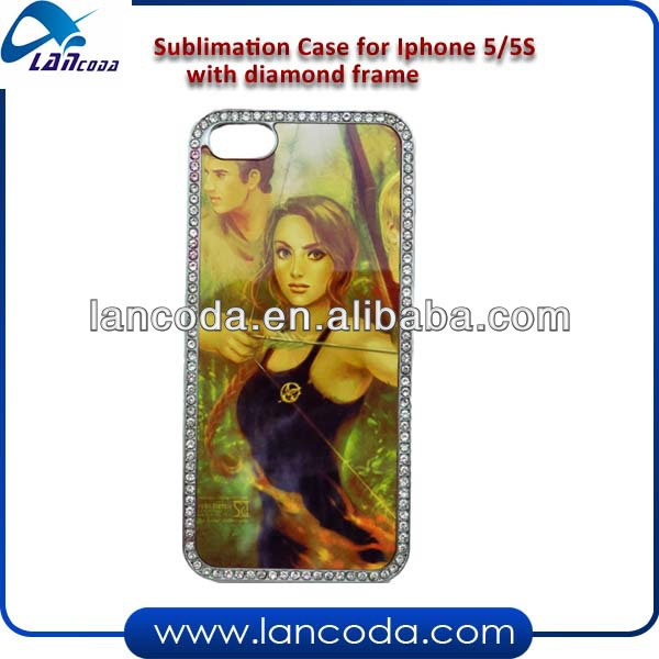 Sublimation Case For Iphone5 With Diamond Frame
