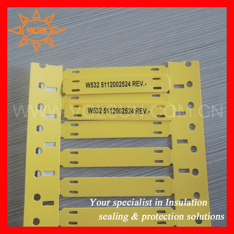 Cable Identification Tags : Zero halogen identification plastic cable labels buy