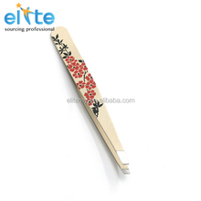 2014 new Anti-Static eyelash Extension Tweezers/rice white with flower variety of Type Eyebrow Tweezers