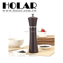 "[Holar] 100% Taiwan Made 4.5""H to 16""H Walnut Pepper Mill with Rubber Wood & S.S."