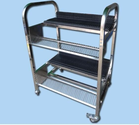 ESD PCB magazine rack feeder cart