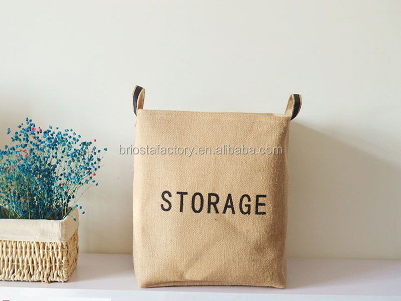 Hot Sale Simple Burlap storage basket
