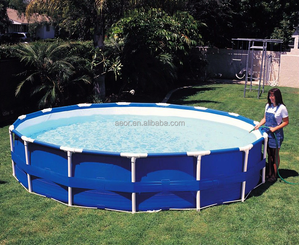 New arrival swimming frame pool equipment,stents metal swimming pool for backyard,inflatable stents swimming pool