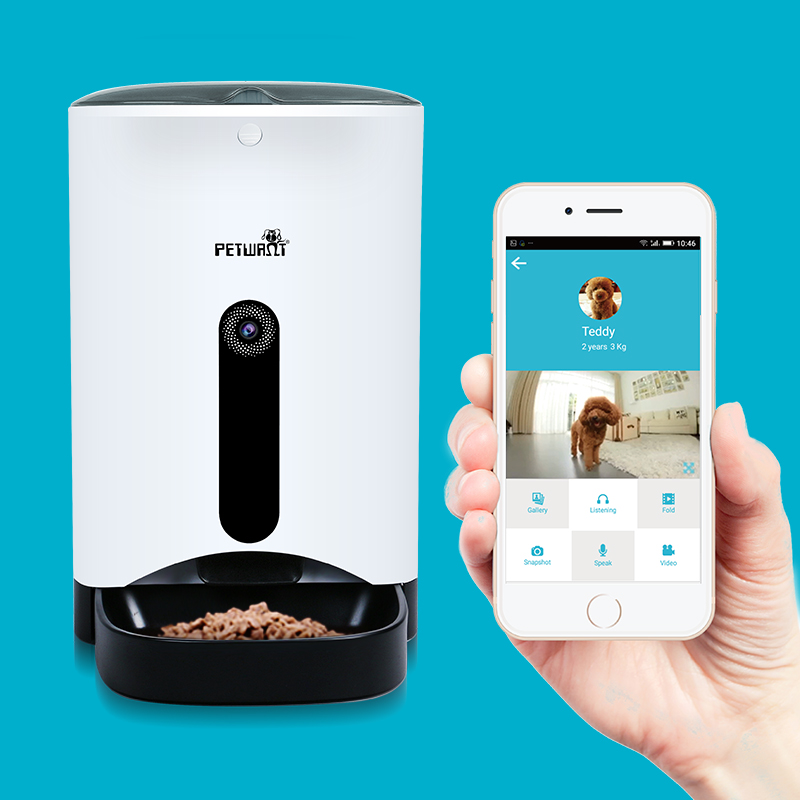 Automatic pet feeder smartphone app controlled smartfeeder