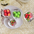 wholesale resturant apple shaped ceramic plate & dish set for snacks,set of 5