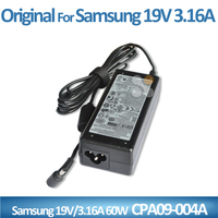TOP quality adapter laptop for Samsung ac power adapter CPA09-004A with 3.0*1.1mm 19V 3.16A 60W