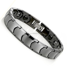 Classical design stainless steel bio energy germanium tungsten bracelet