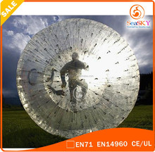 TPU/PVC zorb balloon / inflatable zorbing ball for adult