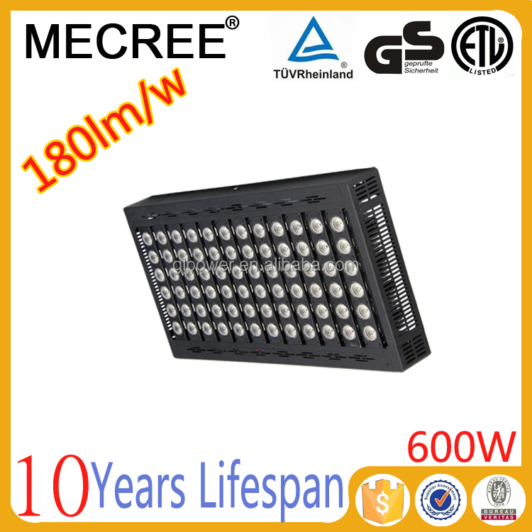 600w660w power led outdoor projector/aluminum bulkhead light in outdoor/vertical wind tunnel