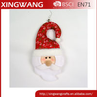 12 inch printed christmas decorative door hangers plush santa doll