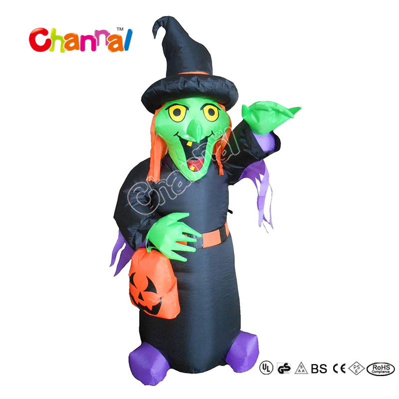 Giant Halloween Decoration Inflatable Witch For Halloween Party Decoration