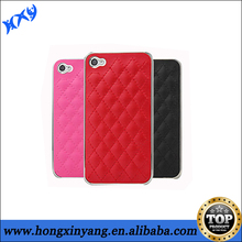 Workmanship sheep leather Cover with Chrome for iphone5/5s
